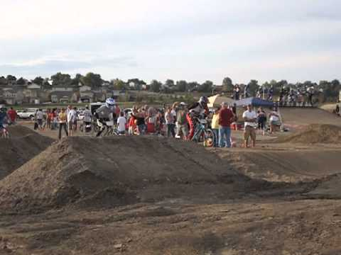 They're racing at the new Cross Creek BMX track in Fountain