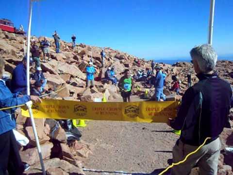 Mario Macias of Alamosa wins the 2011 Pikes Peak Ascent