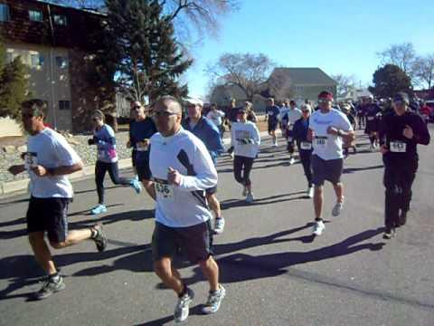 Start of the Pueblo Spring Runoff 10-mile and 10K races, March 4, Pueblo, Colo.
