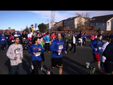 Start of the 2011 YMCA Turkey Trot