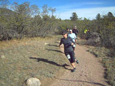 Start of the Cheyenne Mountain Trail Run 25K