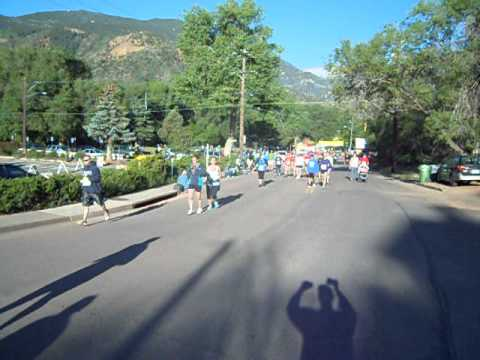 Start of the inaugural Garden of the Gods 5K