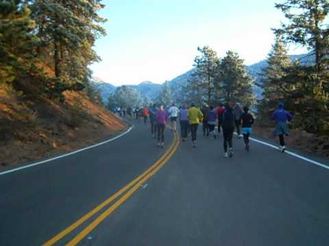 Start of the Pikes Peak Road Ascent 10K