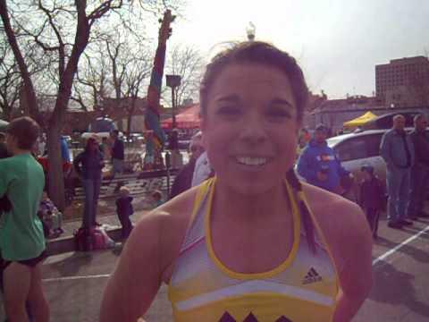 Christie Foster wins the 5K on St. Patrick's Day