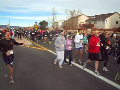 Start of the YMCA Turkey Trot 5K