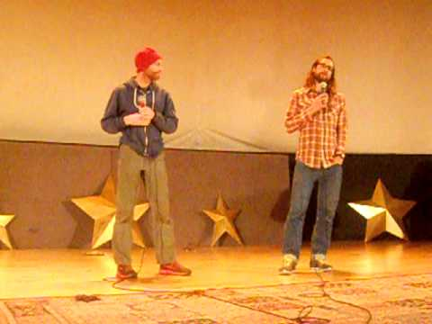 "Geoff Roes and Anton Krupicka at the premier of ""Unbreakable: The Western States 100"""