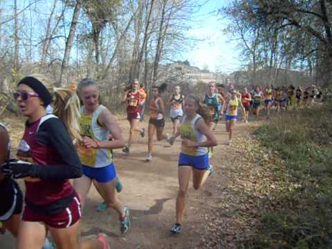 Start of the Class 4A girls state cross country race