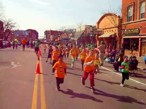 Start of the St. Patrick's Day Kids' 1-Mile Race