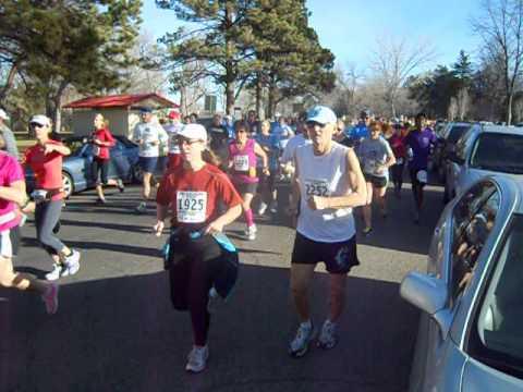 Start of the Rock Canyon Half Marathon, Dec. 1 in Pueblo, Colo.