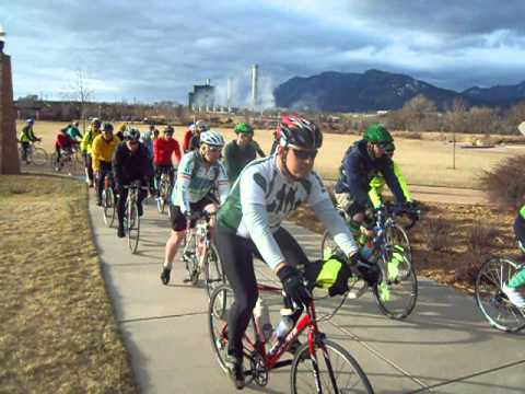 Start of the Pedaling for St. Pat's 50K Bike Ride in Colorado Springs
