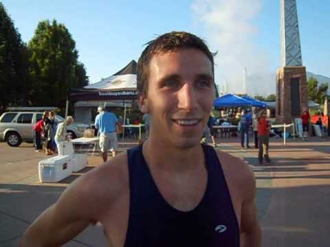 Curtis Suver wins the American Discovery Trail Half Marathon