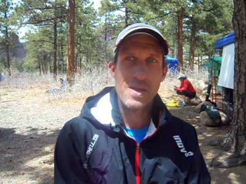 Tommy Manning talks about his win in the Big Mountain Trail Race Half Marathon