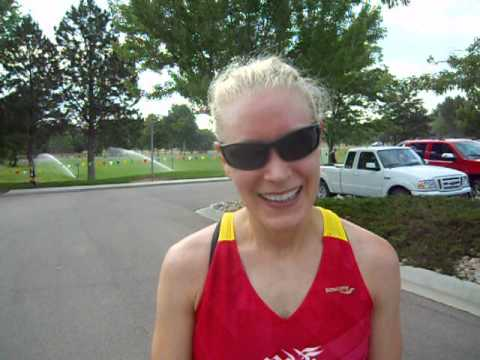 Ashlee Nelson talks about setting course record in Summer Roundup Trail Run