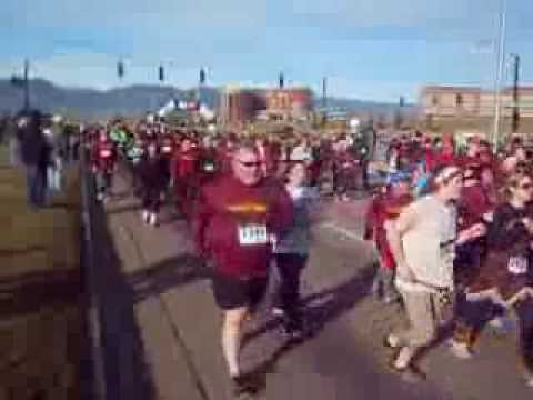 Start of the Turkey Trot 5K in Colorado Springs