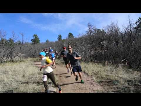Start of the Cheyenne Mountain Trail Race 25K