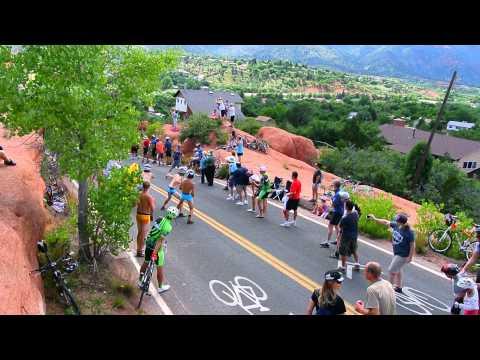 U.S. Pro Challenge break pounds up Ridge Road in the Garden of the Gods