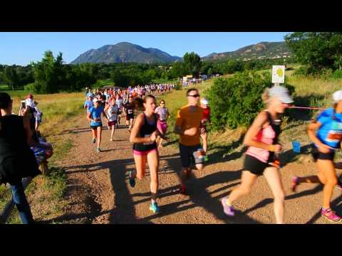 Start of the 2014 Summer Roundup Trail Run