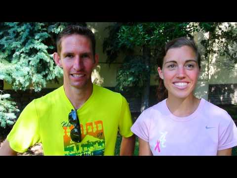 Josh Glaab and Leigh Gilmore talk about winning the HuHot Half on the Fourth