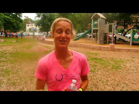 Elbow gashed to the bone, Hayley Benson finishes second in Pikes Peak Marathon