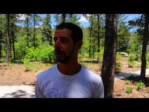 Michael Bianchino talks about his win in the Big Mountain Trail Run Marathon