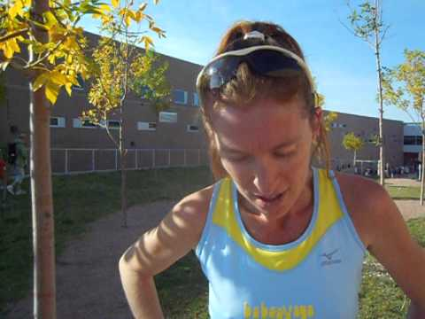 Lori Stich defends her title at the 2012 Thunderstorm 5K in Colorado Springs