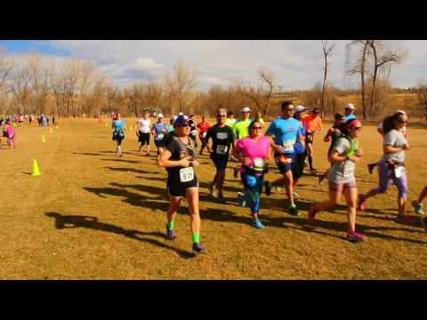 Start of the Winter Series III long-course 10-mile race