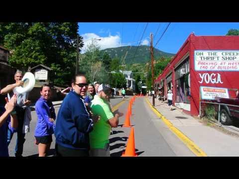 Alex Nichols wins the Pikes Peak Marathon