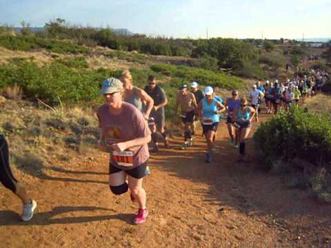 Start of the Summer Roundup Trail Run