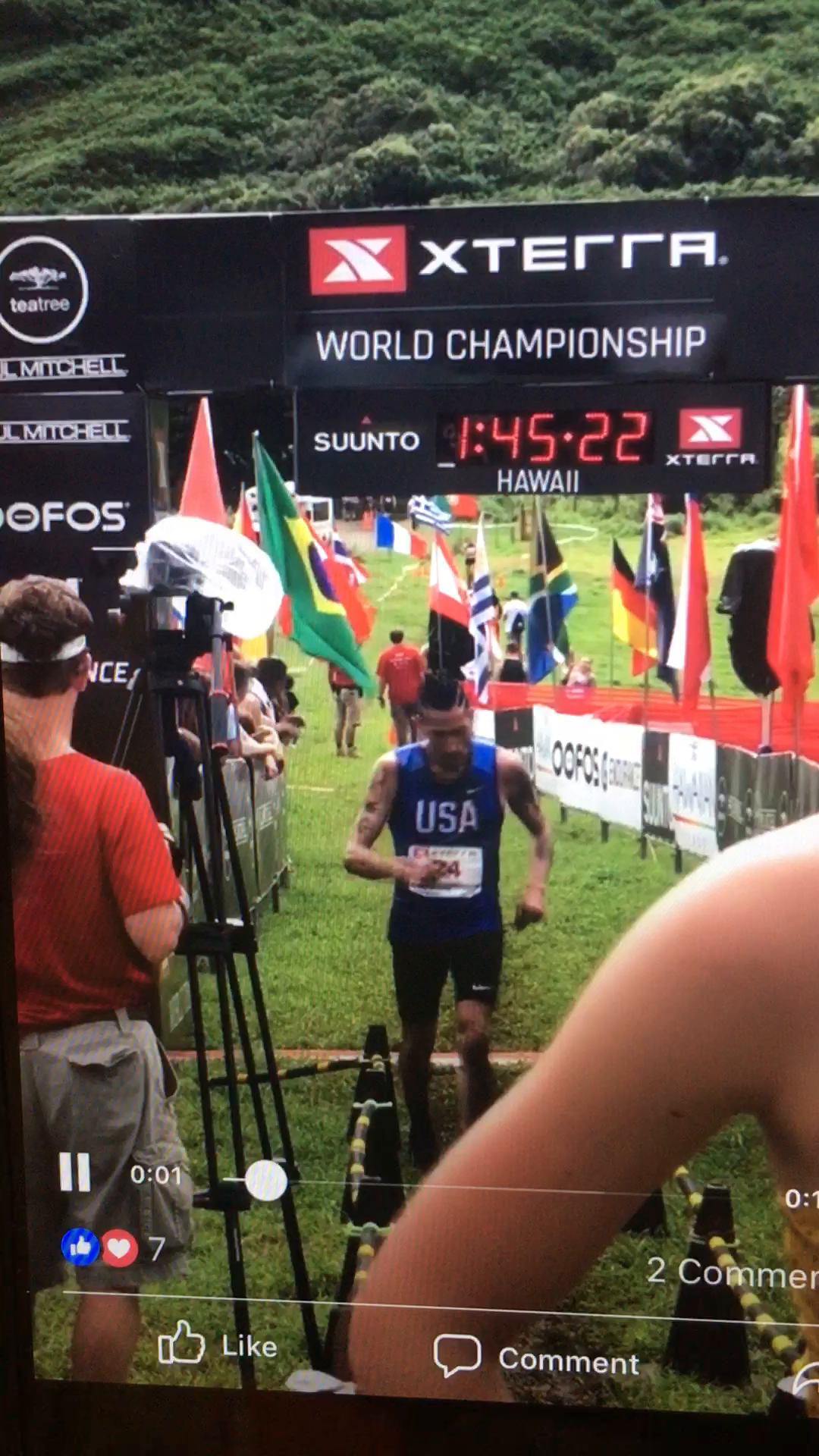 XTERRA TRAIL WORLD CHAMPIONSHIP FINISH CLIP- Kualoa Ranch- Oahu- Hawaii