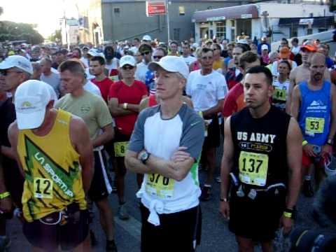 Starting line of the Pikes Peak Marathon