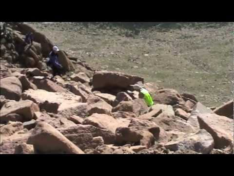 Top finishers in the 2001 Pikes Peak Ascent reach the summit