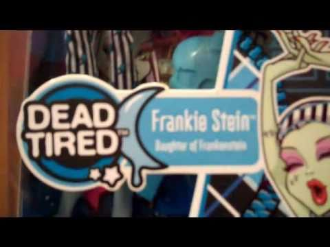 MONSTER HIGH CLAWD WOLF AND DRACUALAURA AND DEAD TIRED REVIEW!