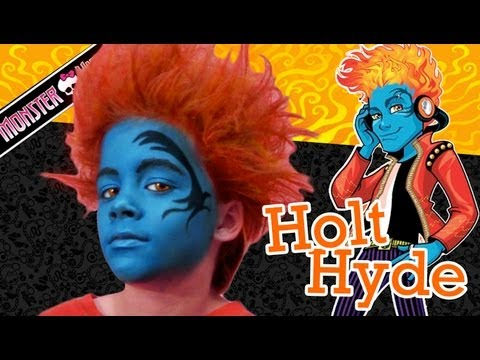 Holt Hyde Monster High Doll Costume Makeup Tutorial for Halloween
