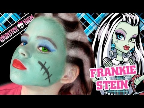 Frankie Stein Monster High Doll Makeup Tutorial for Halloween