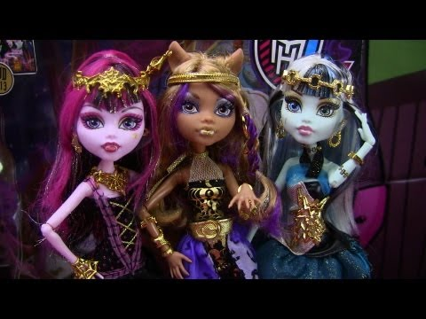 Monster High 13 Wishes Haunt the Casbah Clawdeen Frankie & Draculaura Review Video !!! :D!!