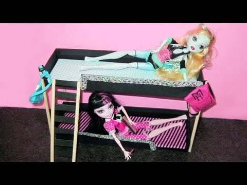 How to Make Monster High Doll Bunk Beds with recycled materials