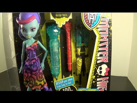 Monster High Create-a-Monster Color Me Creepy Sea Monster Starter Set Review! by Bin's Toy Bin