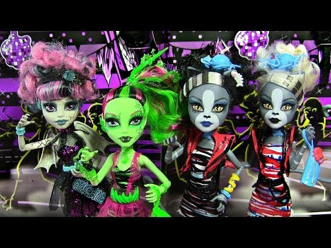 MONSTER HIGH ZOMBIE SHAKE COLLECTION ROCHELLE VENUS PURSEPHONE MEOWLODY REVIEW VIDEO
