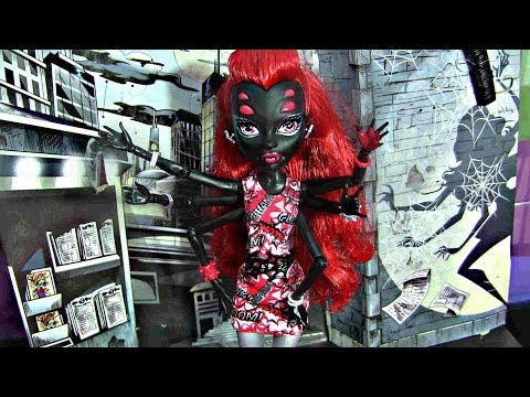 MONSTER HIGH WYDOWNA SPIDER WITH BASIC OUTFIT REVIEW VIDEO!!! :D!!