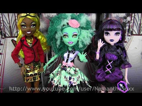 MONSTER HIGH FRIGHTS CAMERA ACTION NEW STARS CLAWDIA, HONEY & ELISSABAT REVEIW VIDEO !!! :D!!