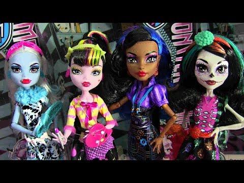 MONSTER HIGH ART CLASS DOLLS REVIEW VIDEO!!! :D ABBEY, DRACULAURA, ROBECCA, SKELITA