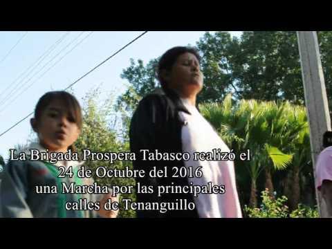 Marcha en pro de la lucha contra el Cancer de Mama en Tenanguillo.