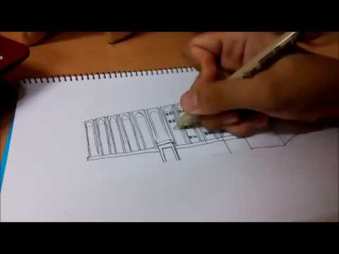 How to sketch a simple building (4 EASY STEPS)