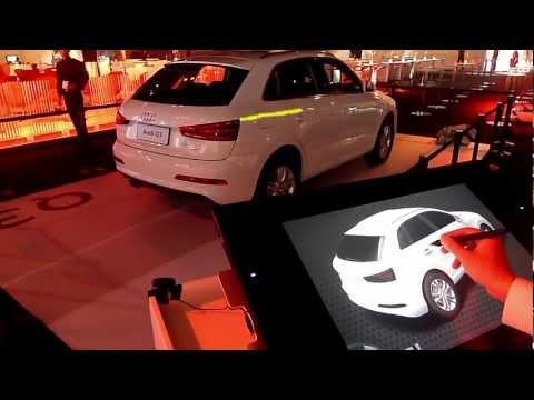 Audi Q3 launch China, Car-Painting & Interactive