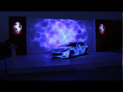 Ferrari FF 3D Projection Car Mapping