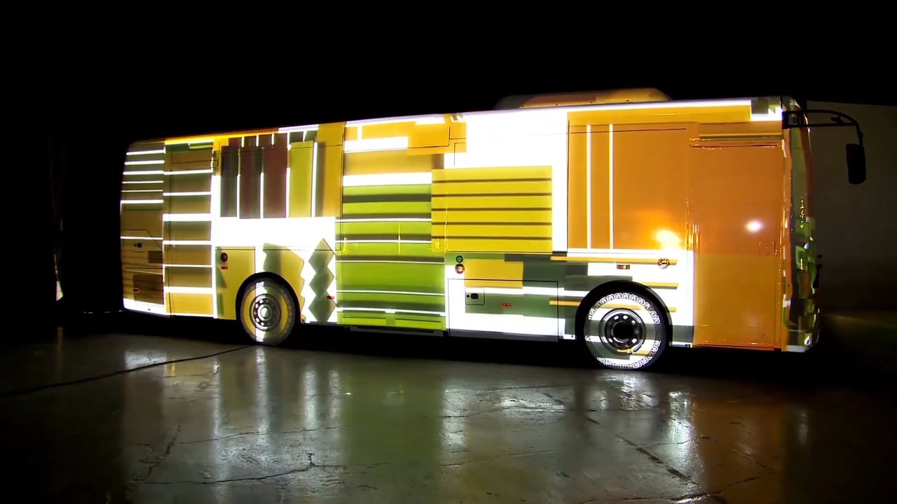 TEMSA-ELECTRICITY Bus Projection Video Mapping