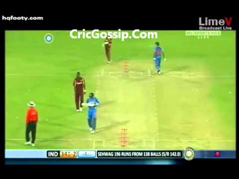 Sehwag 219 For 149 Balls Vs West Indies 4th ODI 2011 Highlights