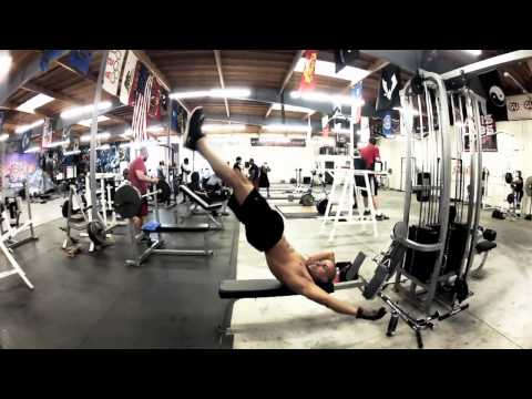 HOT Fitness couple KILLER WORKOUT !!! - Frank Medrano with Anotoniette Pacheco at Metroflex in California