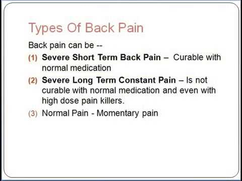 Severe Low Back Pain - What You Need To Know