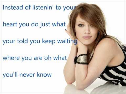 Why Not-Hilary Duff w/lyrics